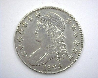 1829 Capped Bust Silver 50 Cents  Uncirculated+