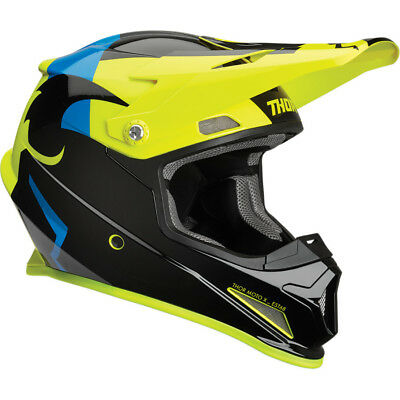Thor Sector Shear Mens MX Offroad Helmet Black/Acid