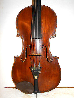 "Antique Old Vintage German ""Remenyi"" 2 Pc Back Full Size Violin - NR"