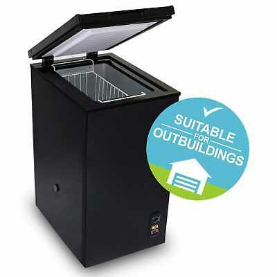 Energy Rating SIA CHE60BL 43cm Black 61L Freestanding Chest Freezer With A