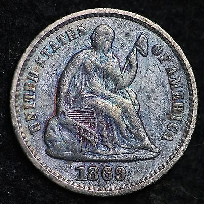 1869 Seated Liberty Half Dime CHOICE XF FREE SHIPPING E190 ANH