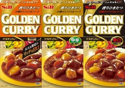 Japanese Curry S&b In Golden Curry Roux For 5 People Select Mild,medium,hot F/s