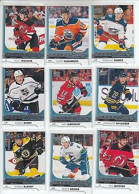 2017-18 Upper Deck Complete Set With Young Guns 521 Cards Series 1 & 2 + Update