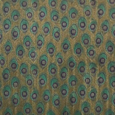Wallpaper Peacock textured faux animal wall coverings Green Gold Metallic 3D