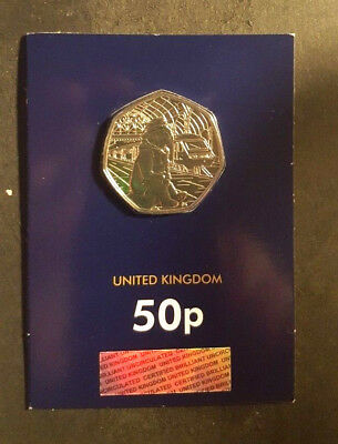 2018 UK Paddington at Station CERTIFIED BU 50p -Change checker