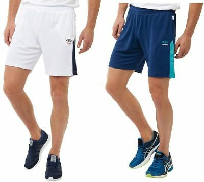 Umbro Mens Boys Training Poly Shorts, Two Pockets, Football, Sports, Rugby,