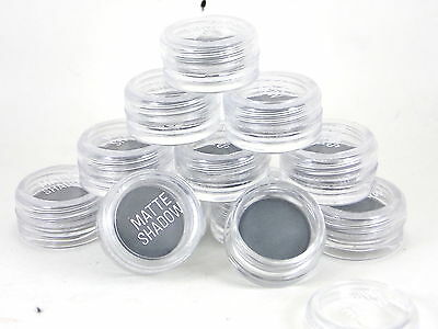 10x Grey Matte Eye Shadows Wholesale Job Lot Cosmetics Make Up Clearance Dark