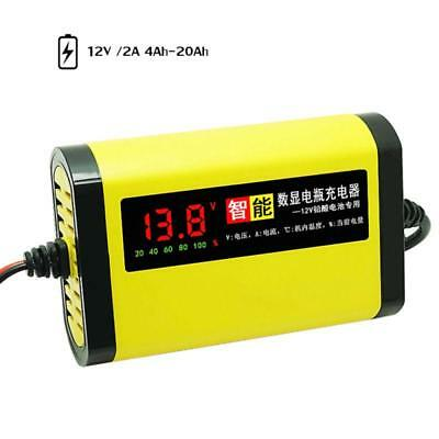 Car Battery Charger Motorcycle 12V 2A Full Automatic 3 Stages Lead Acid AGM GEL