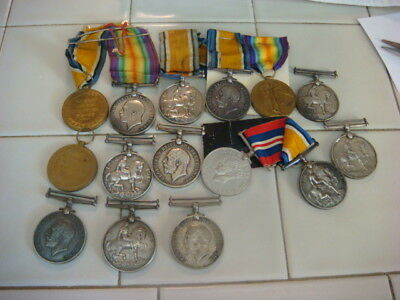 Ww1 British Great War Medallions (14) And Stick Pins Lowest Price!