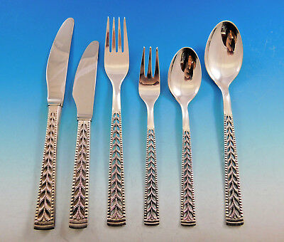 Juvel by Nils Hansen Norway 830 Silver Flatware Set for 8 Service 48 pcs