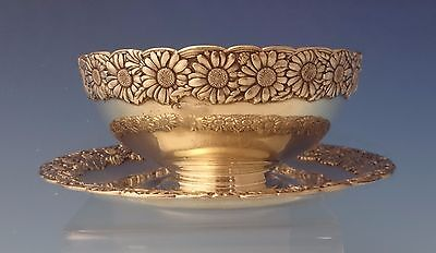 Vine by Tiffany & Co. Sterling Silver Dip Dish w/Underplate & Daisy Motif #0117