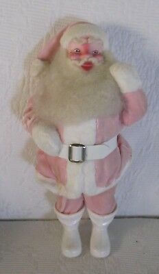 Vintage HAROLD GALE Christmas Santa Clause~Pink Velvet Suit~Very Good Condition