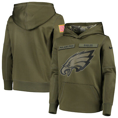 Philadelphia Eagles YOUTH Nike Salute to Service Pullover Performance Hoodie