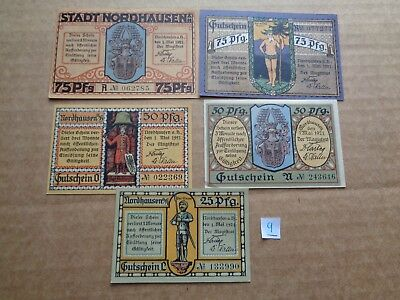 Germany Notgeld NORDHAUSEN -AU/UNC Vintage Emergency Banknote Money