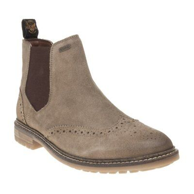 New Mens Superdry Tan Brad Brogue Chelsea Suede Boots Ankle Elasticated  Pull On c692e299ff