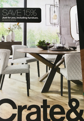 Crate and Barrel 15% off entire purchase 1coupon - sent fast - expires 01-31-19