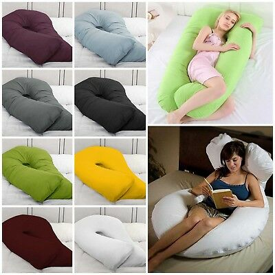 12Ft Comfort U Pillow Full Body Maternity Pregnancy Support ✚ Case FREE DELIVERY