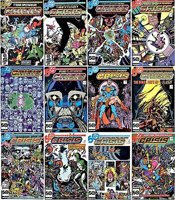 DC Comics Complete Collection Crisis on Infinite Earths (1985) #1-12 Vintage