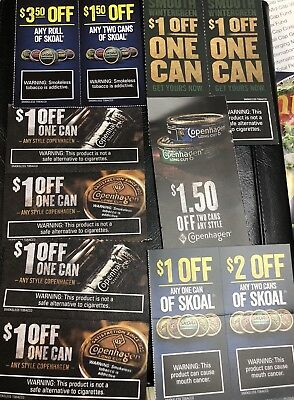 Copenhagen &  Skoal Coupons - Save  $15.50