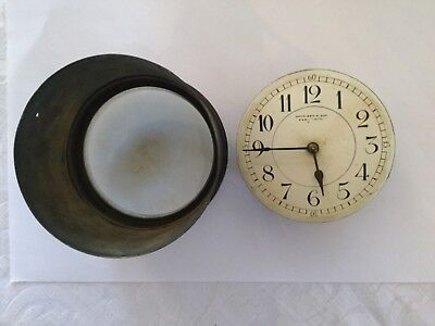 Late Victorian Clock Mechanism Dial, Hands, Cylinder & Glass by Harrison & Son
