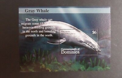 Dominica 2002 Fauna whales Gray Whale MS3271(d) UM MNH unmounted mint