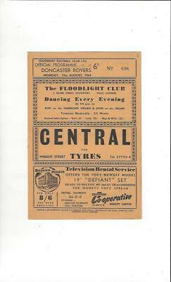 Southport v Doncaster Rovers 1964/65 Football Programme