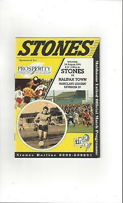 Maidstone United v Halifax Town Football Programme 1991/92