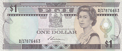 Fiji 1 Dollar 1993 Unc Currency Banknote