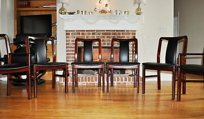 Set of 6 Solid Rosewood Danish Chairs, Mid Century Modern, Made in Denmark