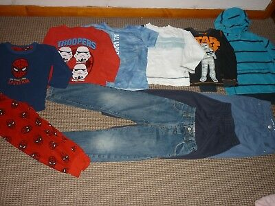 Bundle Boys Clothes age 5-6yrs Next Nike Jeans Tops Sweatshirts Pyjamas Joggers