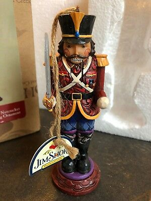 NEW JIM SHORE HEARTWOOD CREEK Soldier Nutcracker Ornament 4025497