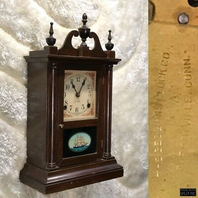 Vintage Antique U.s.a The Session Conn Strikes Pendulum Wall&stand Clock Working
