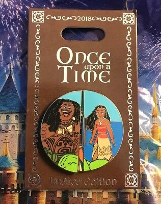 Disney Pin of the Month Once Upon a Time Moana Pin LE 2000 Maui Disneyland New