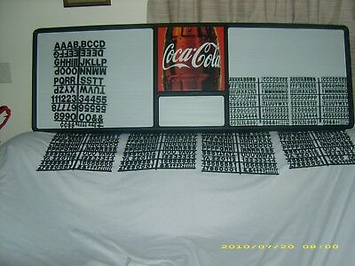 6ft Coca-Cola menu board w 7 sets of coke letters & numbers!