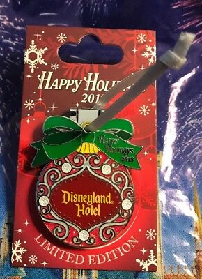 Disneyland Hotel Happy Holidays Resort 2018 Tinker Bell Pin Ornament LE 2000 New