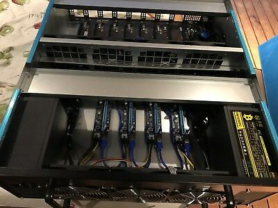 Massive 12 GPU slots mining Rig with 2x 1600 Watt PSU 1 year warranty