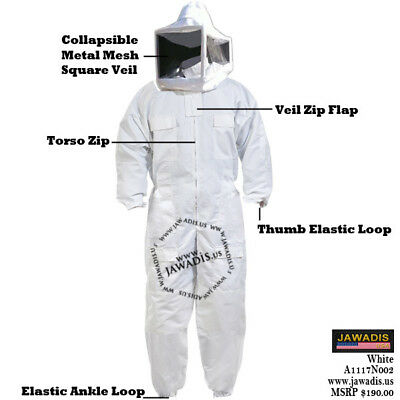 Adult M Beekeepers Bee Suit Metal Foldable Square Veil Unique Christmas Gifts