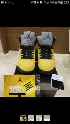 4fb2f31d28a5c1 Nike Air Jordan Aj 5 Retro T23 Us9.5 Yellow Sneakers Men Shoes Casual Rare