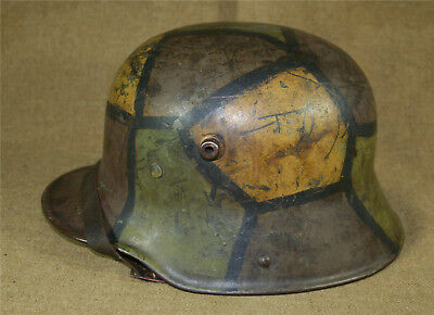 Nice Imperial German BF64 Camo Trench Helmet w/Liner and Chinstrap