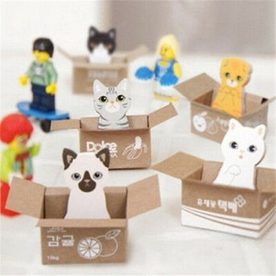 Funny Cat Dog House It Sticker Post Bookmark Mark Tab Memo Sticky Note ~1pc~