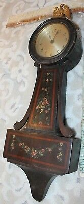 vintage seth thomas clock wall banjo floral antique repair restore floral