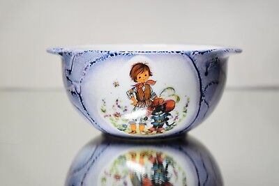 Vintage Nursery Rhyme Porcelain Childs Bowl Puss in Boots Kahla