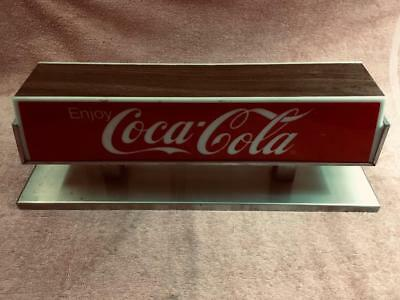 1960s-70s Coke dispenser top sign, stainless steel, Coke logo without the wave.