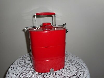 Gorgeous red bakelite- or not,- food carrier vintage or antique