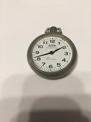 HYP Conductor Railroad Pocket Watch For Parts Or Repair