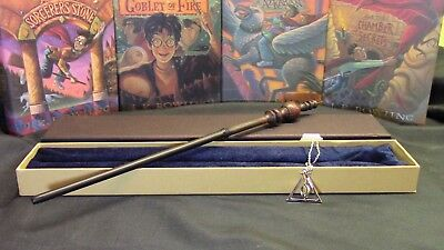 Harry Potter - Minerva McGonagall Wand w/ FREE Deathly Hallow Necklace