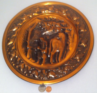 Vintage Metal Copper Wall Hanging Decor, Horse Farrier, Horse Shoeing
