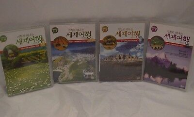 Lot (4) Travel the World By Train DVDs Multi-Language: Korean, English or Japan