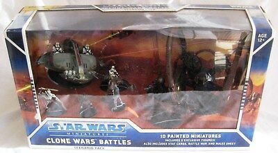 Star Wars Miniatures THE CLONE WARS (WOTC) Scenario Pack 10 Minis - New & Sealed