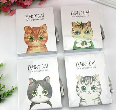 80Pages Funny Cat Book Journal Diary Sketch-book Notebook with Case and Lock